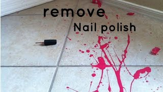 💯Easy way to remove nail polish from tile using perfume
