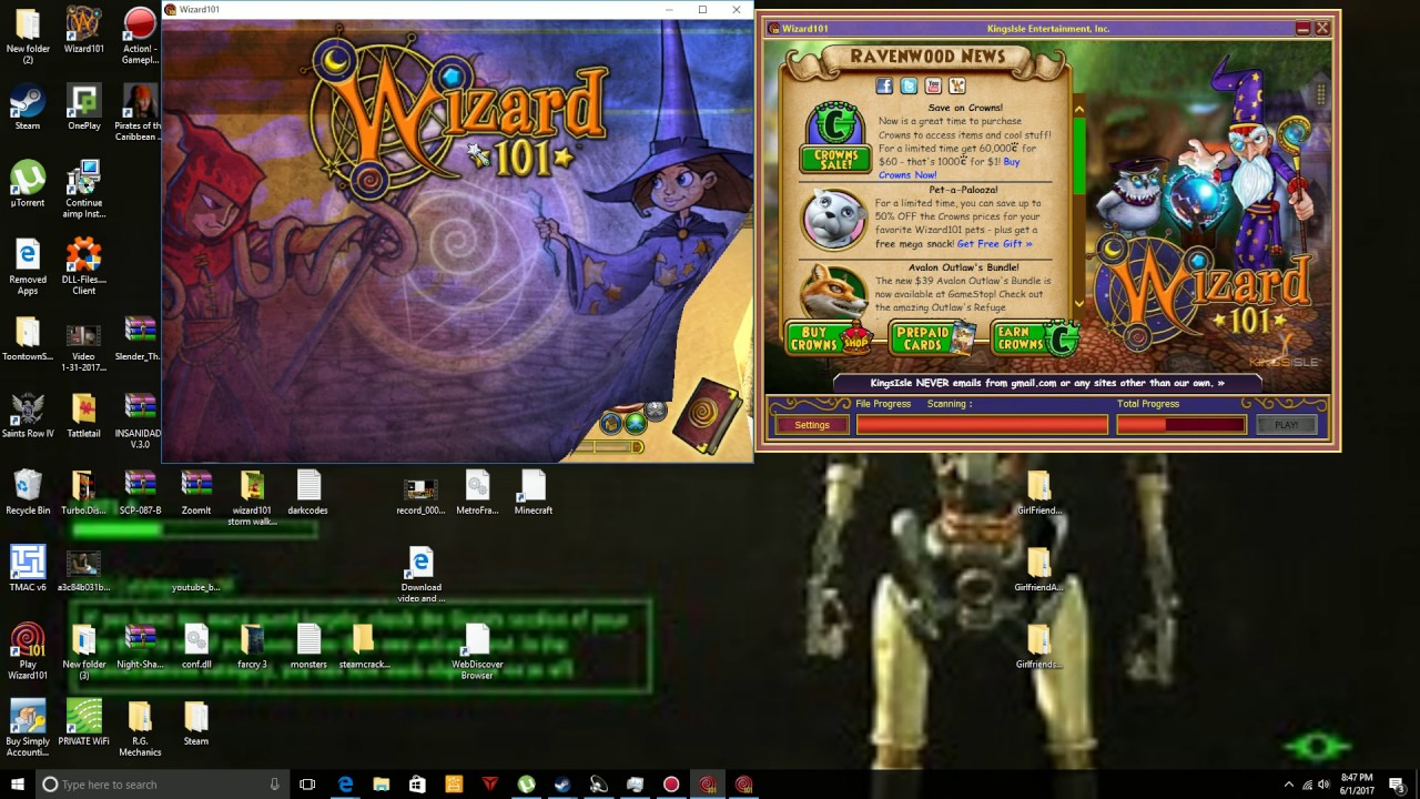 how to play wizard101 on 2 accounts