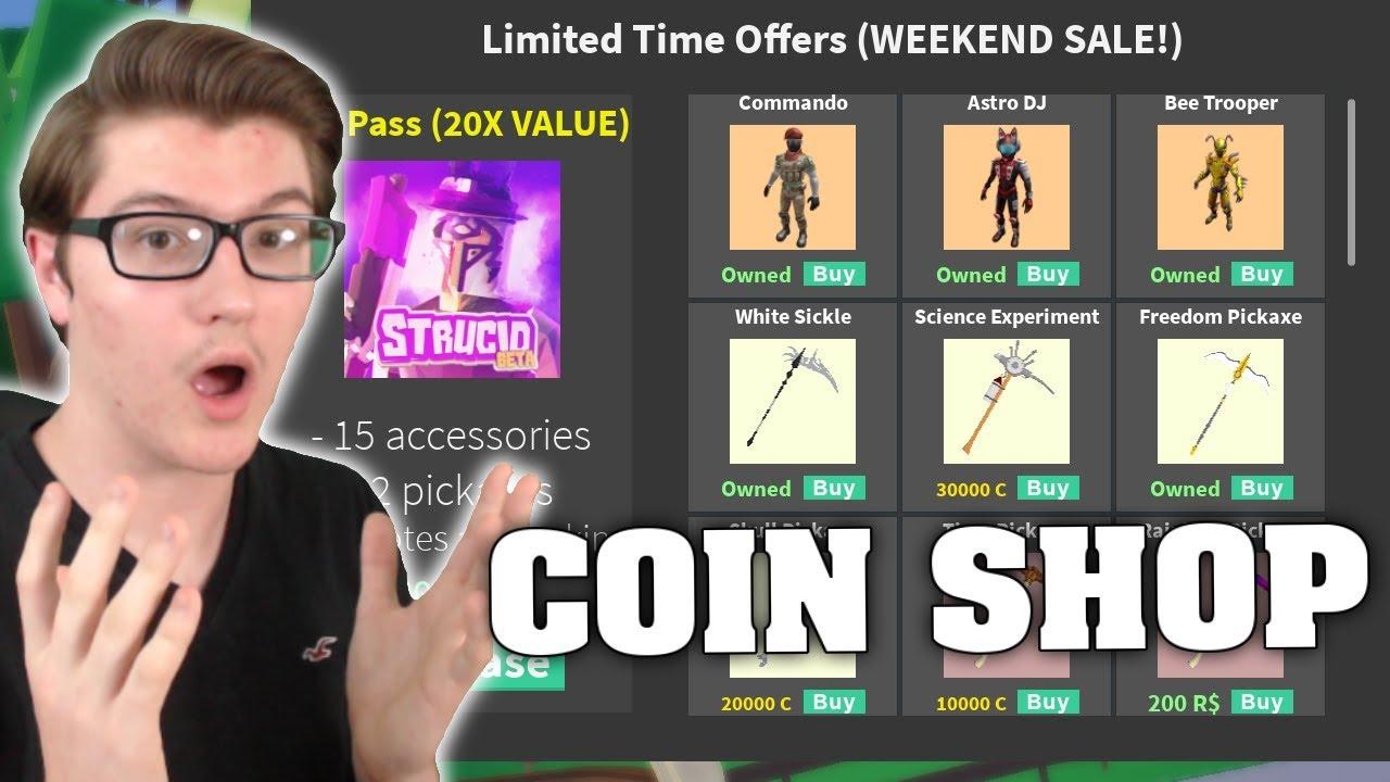 COIN SHOP UPDATE IN STRUCID! (ROBLOX FORTNITE) - YouTube