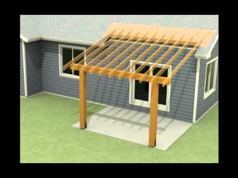 design of a roof addition over an existing concrete patio in ... - Patio Roof Design