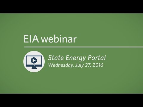 EIA State Energy Portal webinar
