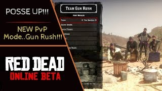 Red Dead Online - NEW PvP GAME MODE!!! RDO Team Gun Rush Gameplay with the Posse!