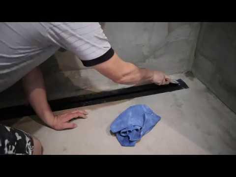 Установка трапа размером 1,50 и подготовка к укладки плиткой часть 1.