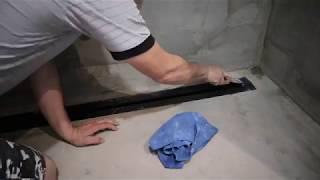 установка трапа размером 1,50 и подготовка к укладки плиткой часть 1