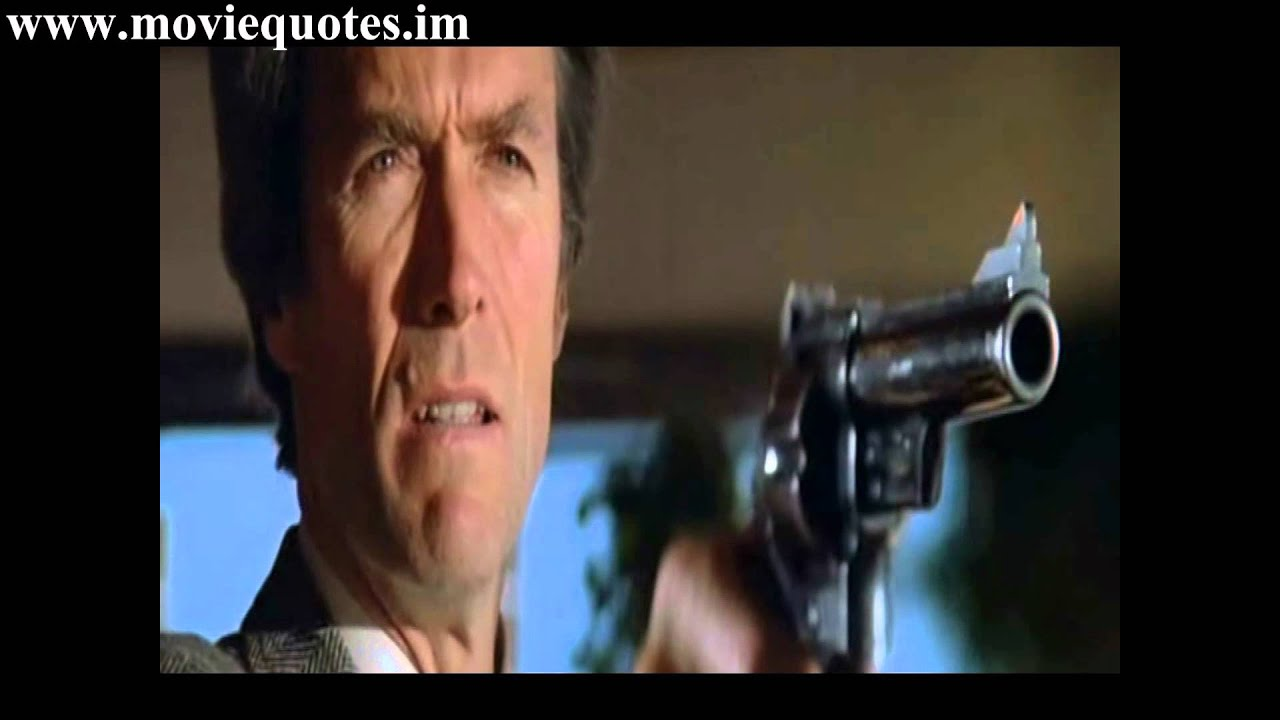 Go Ahead Make My Day Clint Eastwood In Dirty Harry Youtube