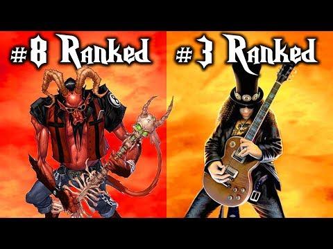TOP 10 GUITAR HERO SONGS OF ALL TIME! (not fortnite)