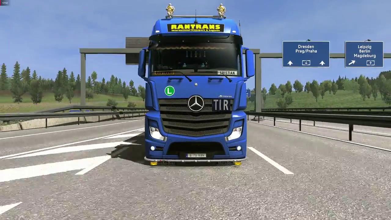 Ets2 Euro Truck Simulator 2 1 33 Mercedes New Actros Trailer
