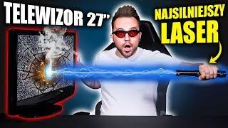 TELEWIZOR_vs_NAJSILNIEJSZY_LASER_ŚWIATA!