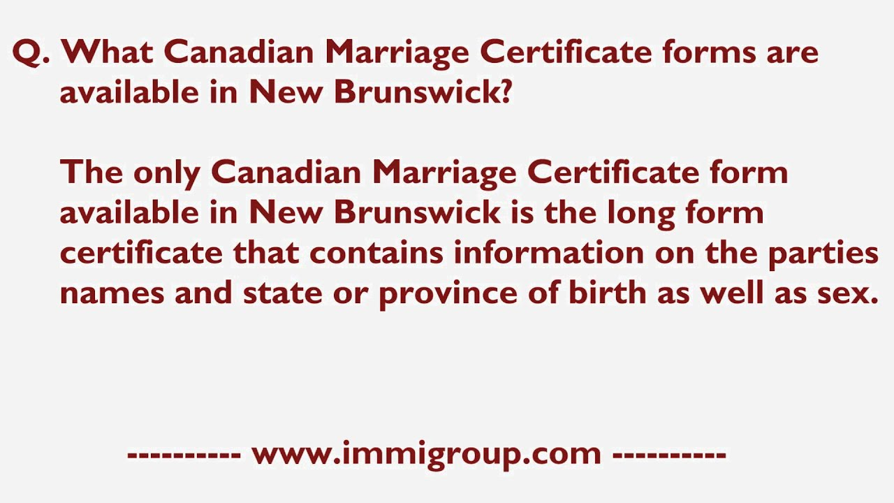 What canadian marriage certificate forms are available in new what canadian marriage certificate forms are available in new brunswick aiddatafo Images