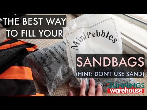 How To Fill Your Sand Bags (HINT: DON'T USE SAND) Photography Gear Strobist Lighting