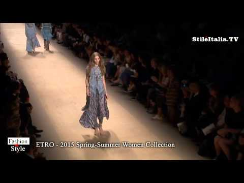 """Italian Fashion""- ""ETRO"" - 2015 Spring - Summer Women - ""Milan Fashion Week"" - ""Moda Milano"""