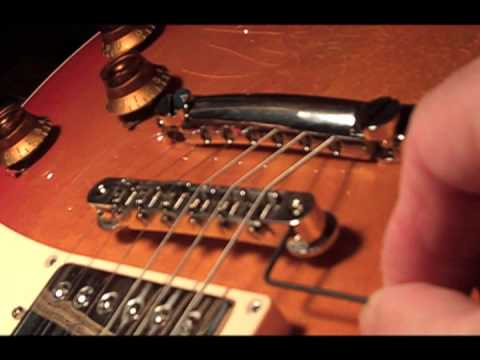 TonePros AVR-2 bridge Les Paul tips more sustain how to install  Tune-o-matic Gibson ABR-1 intonation