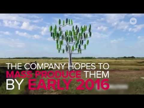 New wind turbines look like trees (Innovative)