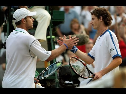 19 year-old Andy Murray straight-setting Andy Roddick at Wimbledon and ending his streak of consecutive finals at SW19. 2006 Wimbledon 3R.