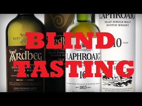 Ardbeg 10 vs Laphroaig 10 Peated Scotch Whisky Blind Tasting