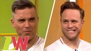Robbie Williams Forced to Sing Olly Murs Hit as Forfeit for Losing Penalty Shootout | Loose Women thumbnail