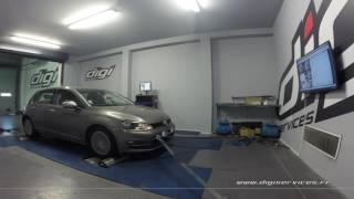 VW Golf 7 1.6 tdi 105cv Reprogrammation Moteur @ 146cv Digiservices Paris 77 Dyno