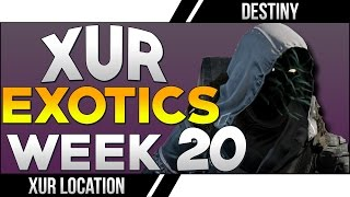 destiny xur location exotic no land beyond destiny xur week 20 exotics items list