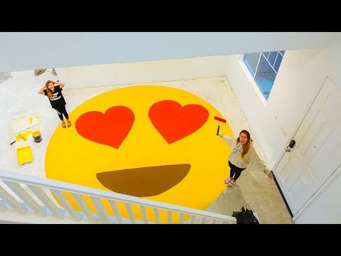 Family surprises daughter with HUGE PAINTED EMOJI in new house!! 😍 | Slyfox Family