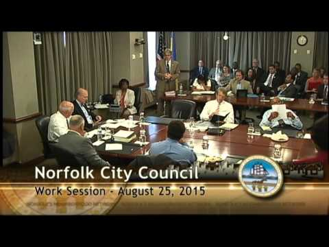 Work 08/25/15 Session - Norfolk City Council