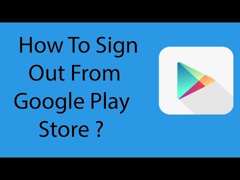 How to remove a google play account from phone