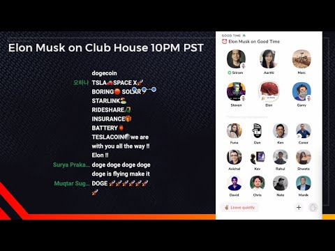 Elon Musk on Clubhouse Live Stream (High Quality Audio) Full Version