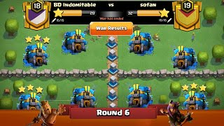 Clan War Leagues Season 3 - Round 6 - Clash of Clans New TH2 War Strategy