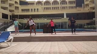Танец Зумба. Зумба для беременных. Уроки танца. AMC Royal Hotel. Египет. Хургада.