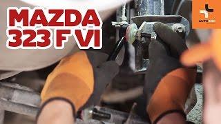 Hvordan bytte bak stabilisatorstag på MAZDA 323   Bruksanvisning HD
