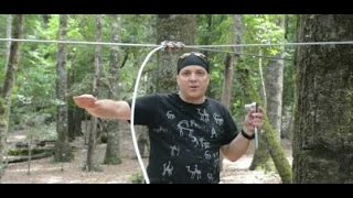 Zipline Tutorial - How to tension a Zip Line w/o turnbuckle