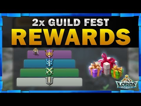 Double Guild Fest Rewards With Legendary Drops - Lords Mobile - Mister Bp Gaming