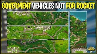 *NEW* Fortnite: LEAKED GOVERNMENT VEHICLES NOT FOR ROCKET! | (Leaked Map Changes v4.5)