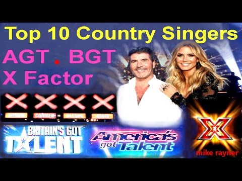 Top 10 Amazing Country Singers (AGT) (BGT) Best Got Talent & X Factor Auditions Worldwide
