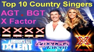 Top 10 Amazing Country Singers (AGT) (BGT) Best Got Talent & X Factor Auditions Worldwide MP3