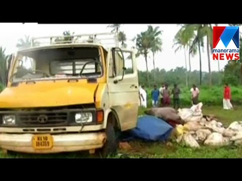 Lorry seized for dumping chicken waste in Village area | Manorama News