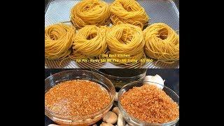 How to make Egg Noodles by Phillips Pasta Maker, Sauce for Dry Egg Noodles, Crispy Fried Garlic.