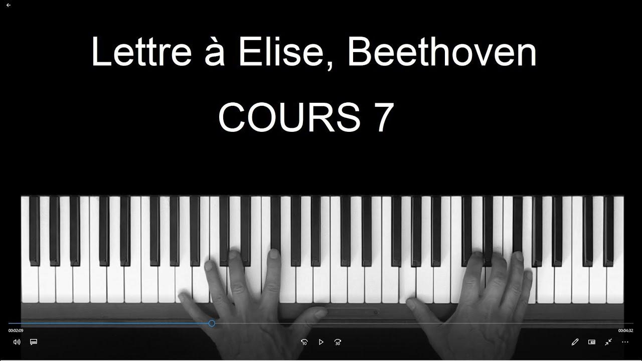 lettre elise beethoven cours de piano 7 m thode bernachon f r elise youtube. Black Bedroom Furniture Sets. Home Design Ideas