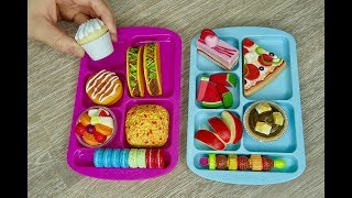 Packing American Girl Doll School Bento Box Lunches For Summer Camp!