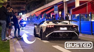 POLICE vs SUPERCARS in Monaco ! Top Marques Monaco 2019