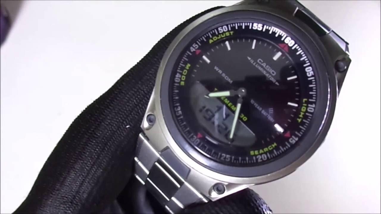 84d93cf75c2 Relógio Casio AW-80D-1AV - Inox Preto - YouTube