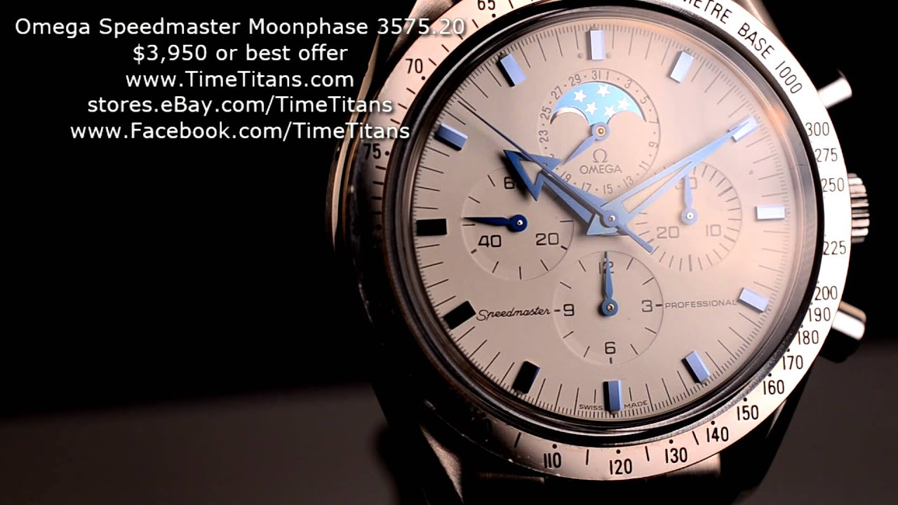 Omega Speedmaster Professional Moon Phase Broad Arrow 3575 ...