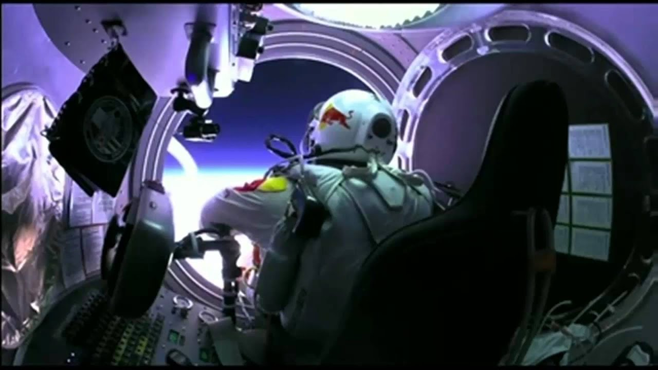 Image result for red bull stratos freefall fish eye