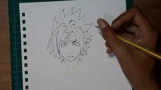 WOW!!! Menggambar sasuke ternyata gampang banget !!