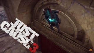 How to Kick Off Walls with Bavarium Wingsuit - Just Cause 3 Stunts