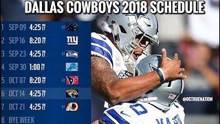 Cowboys schedule prediction