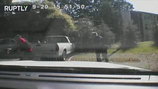 Charlotte police release dashboard footage of Scott shooting