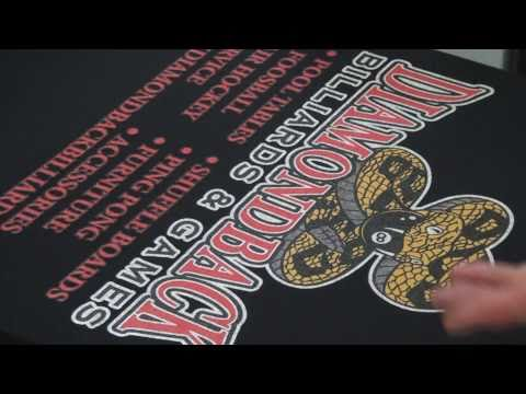 How To Screen Print: 3 Colors On A White Under Base