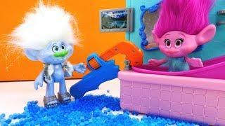 Видео для детей. Тролли в Веселой школе - Профессия сантехник