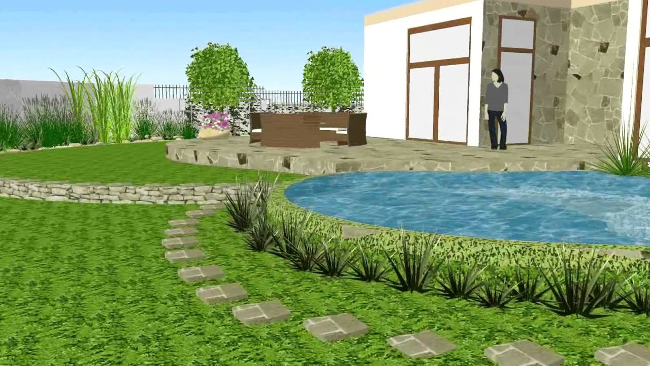 Virtual walk throught private garden hd gabion garden for Virtual garden design