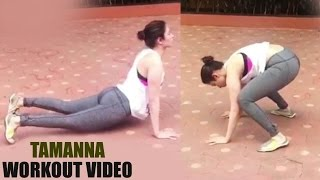 Actress Thamana Home Workout Video Went Viral !!